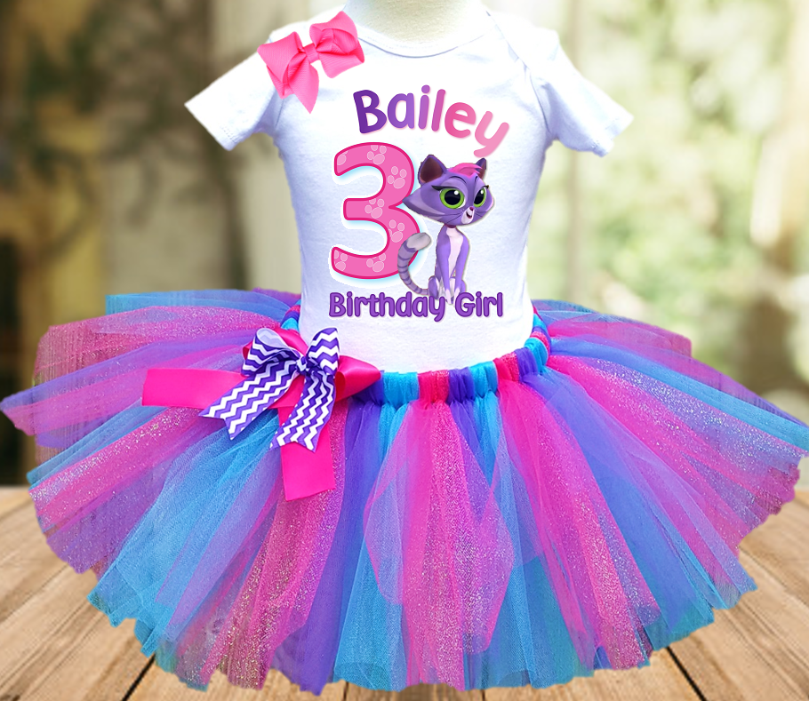 Puppy Dog Pals Hissy Cat Birthday Party Personalized Tutu Outfit - All Sizes - PDHTO02