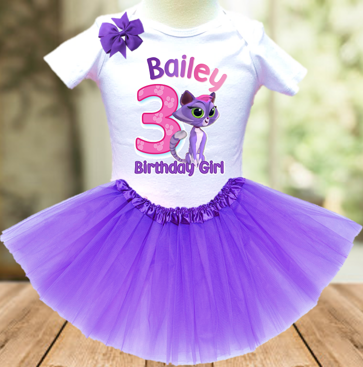 Puppy Dog Pals Hissy Cat Birthday Party Personalized Layer Tutu Outfit - All Sizes - PDTO02A