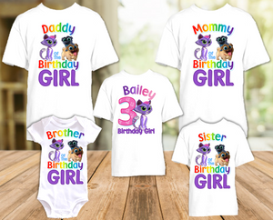 Puppy Dog Pals Hissy Birthday Party Personalized T Shirt or Onesie - 5 Pack - PDPH5P