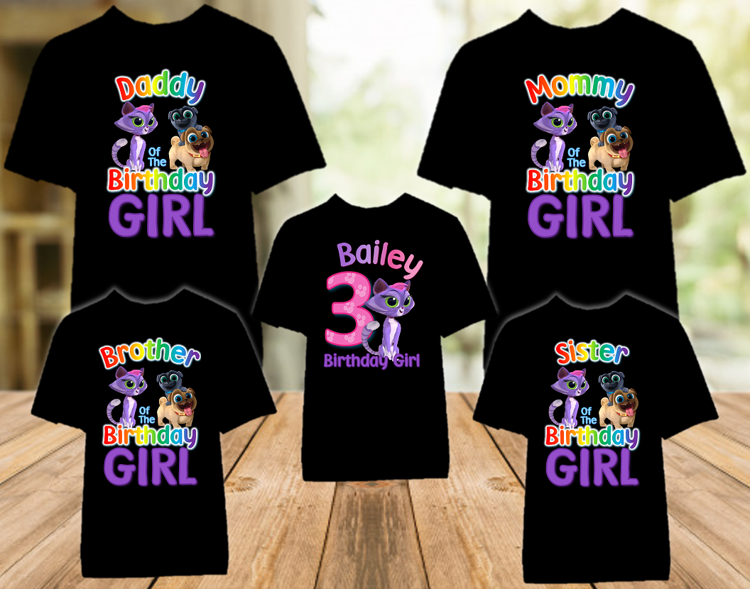 Puppy Dog Pals Hissy Birthday Party Personalized Color T Shirt - 5 Pack - PDPHC5P