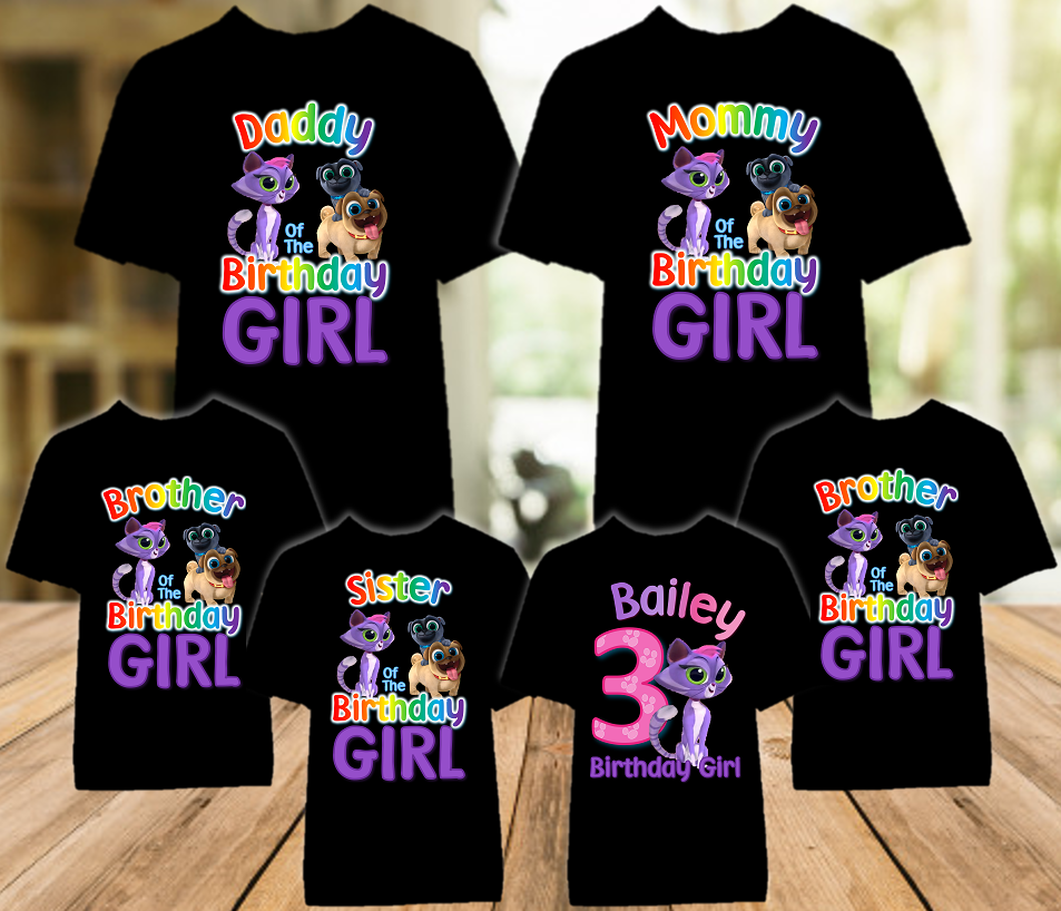 Puppy Dog Pals Hissy Birthday Party Personalized Color T Shirt - 6 Pack - PDPHC6P