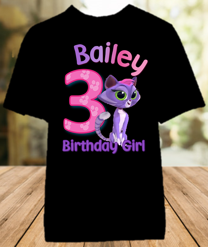 Puppy Dog Pals Hissy Birthday Party Personalized Color T Shirt - All Sizes - PDPHCS1