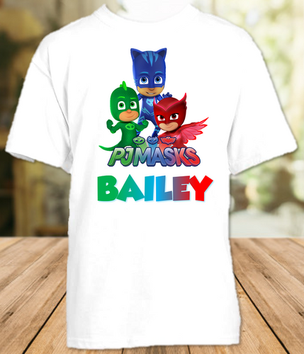 PJ Masks Party Personalized T Shirt or Onesie - All Sizes - PJPS1