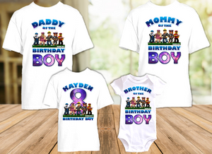 Roblox Birthday Party Personalized T Shirt or Onesie - 4 Pack - RB4P