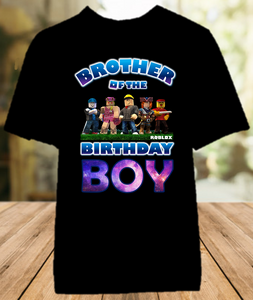 Roblox Birthday Party Personalized Sibling Brother Color T Shirt - All Sizes - RBBCS1