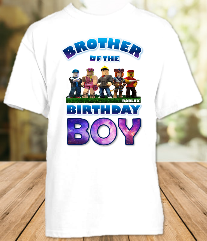 Roblox Birthday Party Personalized Sibling Brother T Shirt or Onesie - All Sizes - RBBS1
