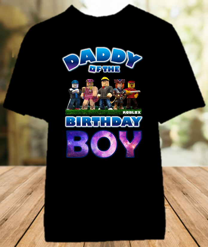 Roblox Birthday Party Personalized Dad Daddy Father Color T Shirt - All Sizes - RBDCS1