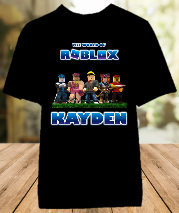 Roblox Party Personalized Color T Shirt - All Sizes - RBPCS1