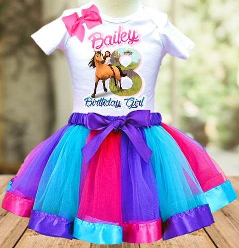 Spirit Horse Birthday Party Personalized Ribbon Tutu Outfit - All Sizes - SPITO02