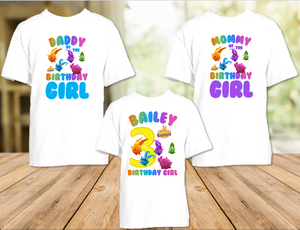 Sunny Bunnies Birthday Party Personalized T Shirt or Onesie - 3 Pack - SUN3P