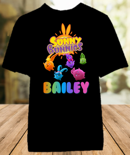 Sunny Bunnies Party Personalized Color T Shirt - All Sizes - SUNPCS1