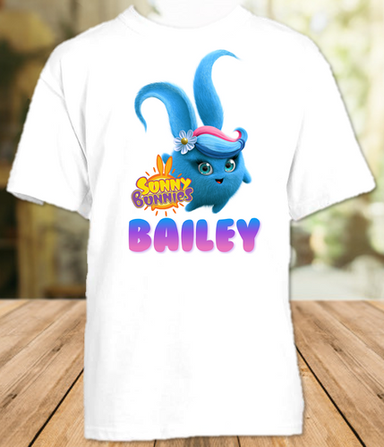 Sunny Bunnies Shiny Party Personalized T Shirt or Onesie - All Sizes - SUNSPS1
