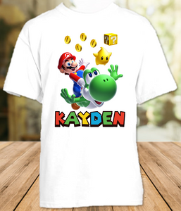 Super Mario Galaxy Party Personalized T Shirt or Onesie - All Sizes - SMGPS1
