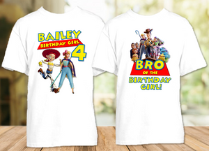 Toy Story 4 Bo Peep Jessie Birthday Party Personalized T Shirt or Onesie - 2 Pack - TSBPJ2P