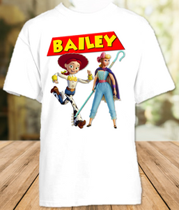 Toy Story 4 Bo Peep Jessie Party Personalized T Shirt or Onesie - All Sizes - TSBPJPS1