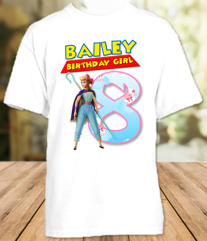 Toy Story 4 Bo Peep Birthday Party Personalized T Shirt or Onesie - All Sizes - TSBPS1
