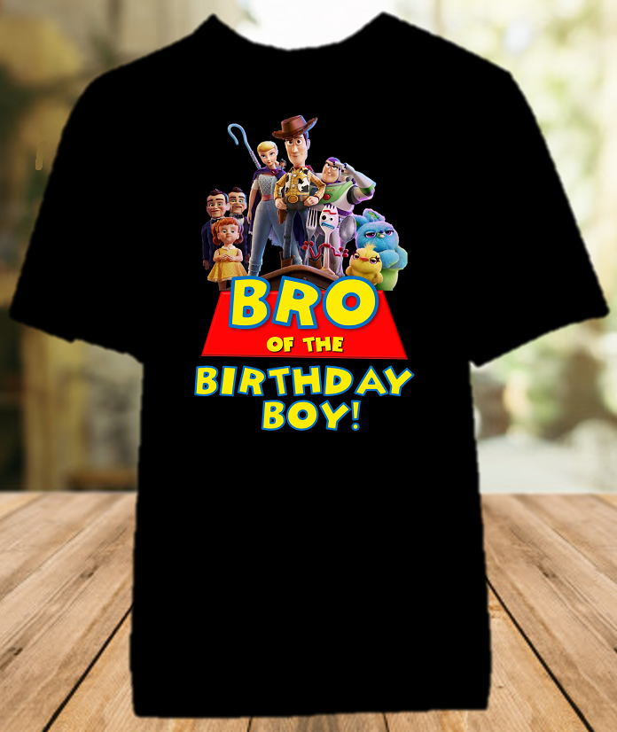 Toy Story 4 Birthday Party Personalized Sibling Brother Color T Shirt - All Sizes - TSBCS1