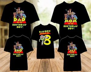 Toy Story 4 Buzz Lightyear Birthday Party Personalized Color T Shirt - 5 Pack - TSBLC5P