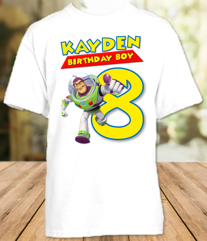 Toy Story 4 Buzz Lightyear Birthday Party Personalized T Shirt or Onesie - All Sizes - TSBLS1