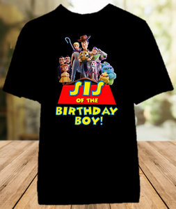 Toy Story 4 Birthday Party Personalized Sibling Sister Color T Shirt - All Sizes - TSSCS1