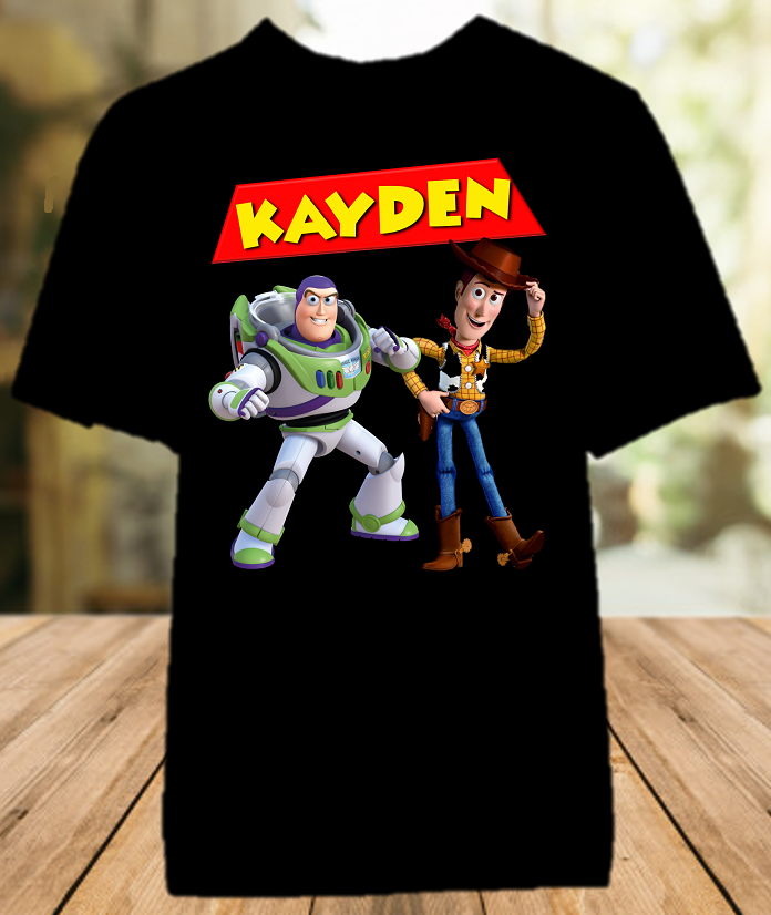Toy Story 4 Buzz Lightyear Woody Party Personalized Color T Shirt - All Sizes - TSBLWPCS1