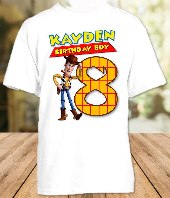 Toy Story 4 Woody Cowboy Birthday Party Personalized T Shirt or Onesie - All Sizes - TSWS1