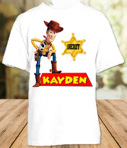 Toy Story 4 Woody Cowboy Party Personalized T Shirt or Onesie - All Sizes - TSWPS1
