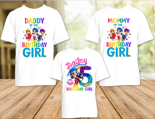 True and The Rainbow Kingdom Birthday Party Personalized T Shirt or Onesie - 3 Pack - TRK3P