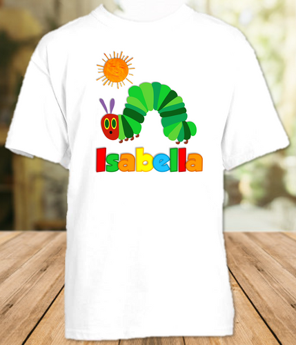 Very Hungry Caterpillar Party Personalized T Shirt or Onesie - All Sizes Available - VHCPS1