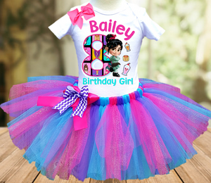 Wreck it Ralph Breaks Internet Vanellope Birthday Party Personalized Tutu Outfit - All Sizes - WVTO02