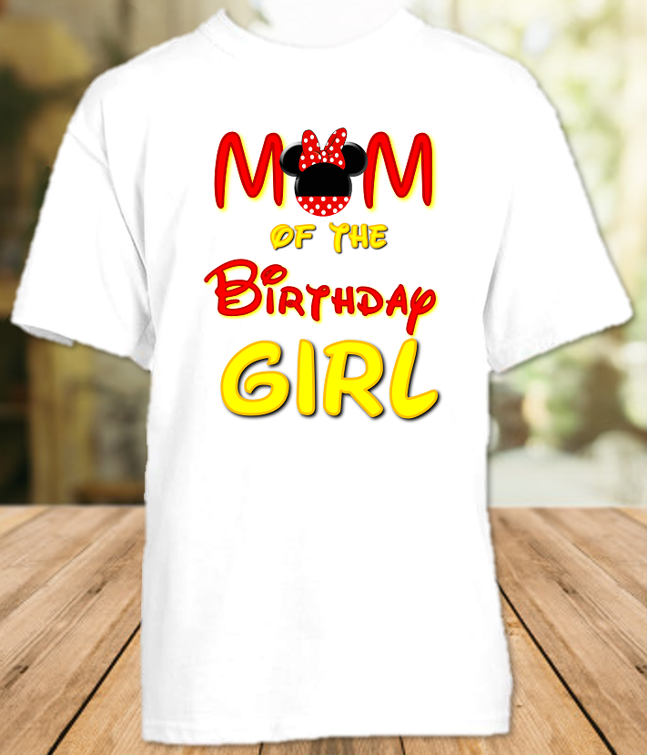 Minnie Mouse Birthday Party Personalized Parent Mom Mommy Mother T Shirt - All Sizes - MMMS1