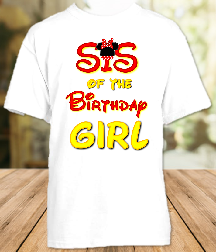 Minnie Mouse Birthday Party Personalized Sibling Sister T Shirt or Onesie - All Sizes - MMSS1