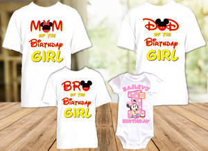 Baby Minnie Mouse 1st First Birthday Party Personalized T Shirt or Onesie - 4 Pack - BMM4P