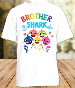 Baby Shark Birthday Party Sibling Brother T Shirt or Onesie - All Sizes Available