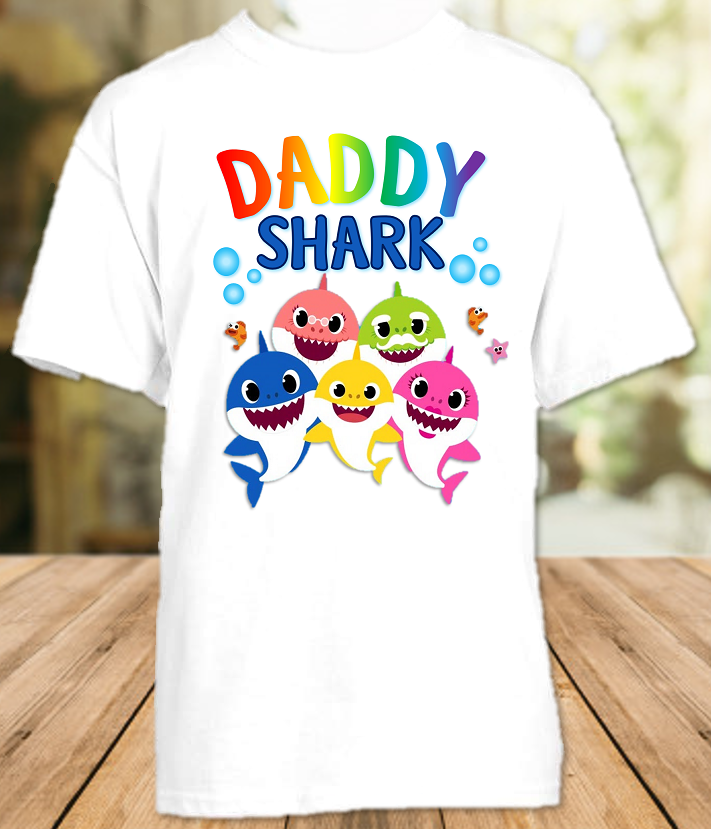 Baby Shark Pinkfong Birthday Party Parent Dad Daddy Father T Shirt - All Sizes Available