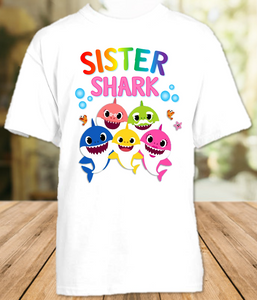 Baby Shark Pinkfong Birthday Party Sibling Sister T Shirt or Onesie - All Sizes Available