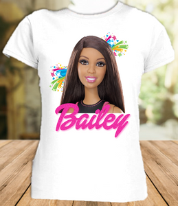 Barbie Black Party Personalized T Shirt or Onesie - All Sizes - BARPS1