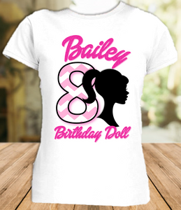 Barbie Silhouette Birthday Party Personalized T Shirt or Onesie - All Sizes - BARSIS1