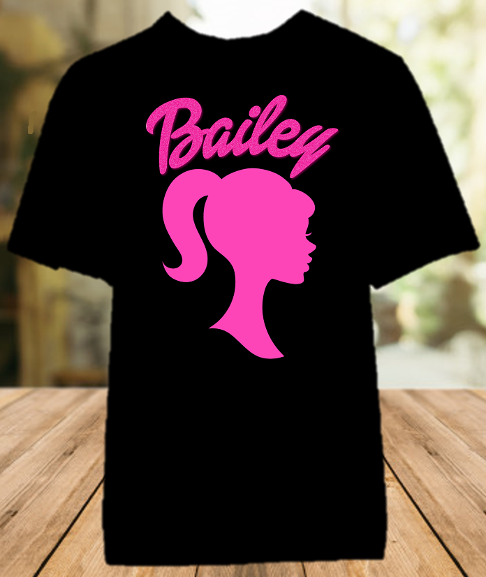 Barbie Silhouette Party Personalized Color T Shirt - All Sizes Available