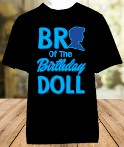 Barbie Birthday Party Personalized Sibling Brother Color T Shirt - All Sizes Available