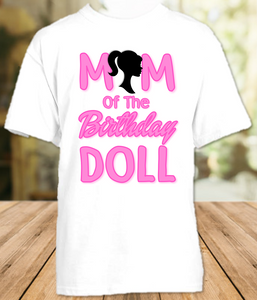 Barbie Birthday Party Personalized Parent Mom Mommy Mother T Shirt - All Sizes Available