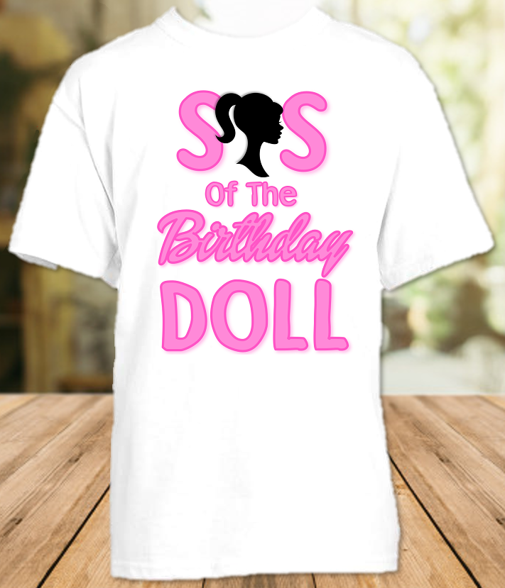 Barbie Birthday Party Personalized Sibling Sister T Shirt or Onesie - All Sizes Available