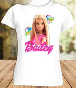 Barbie Blonde Party Personalized T Shirt or Onesie - All Sizes - BARBLPS1