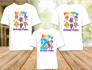 Bubble Guppies Birthday Party Personalized T Shirt or Onesie - 3 Pack - BG3P