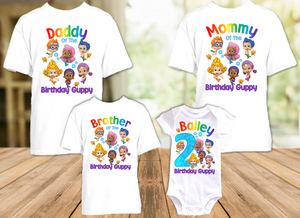 Bubble Guppies Birthday Party Personalized T Shirt or Onesie - 4 Pack - BG4P