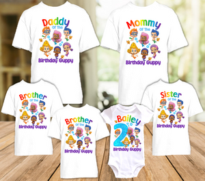 Bubble Guppies Birthday Party Personalized T Shirt or Onesie - 6 Pack - BG6P