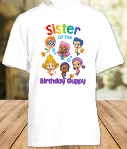 Bubble Guppies Birthday Party Personalized Sibling Sister T Shirt or Onesie - All Sizes Available - BGSS1
