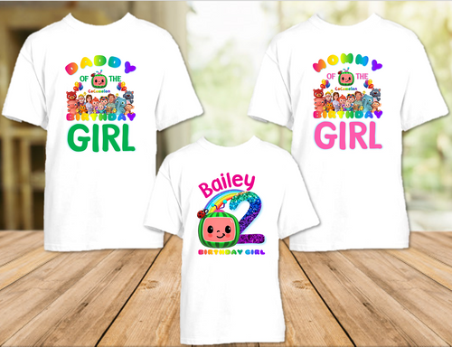 CoComelon Birthday Party Personalized T Shirt or Onesie - 3 Pack - CCML3P