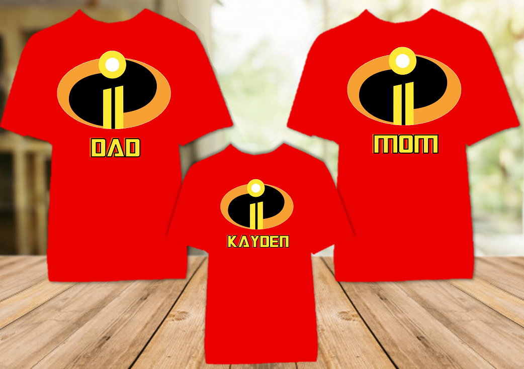 Disney World Family Vacation Incredibles 2 Personalized Color T Shirt - 3 Pack - DIC3P