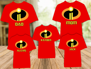 Disney World Family Vacation Incredibles 2 Personalized Color T Shirt - 5 Pack - DIC5P
